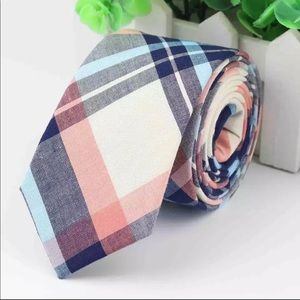 Peach / Blue Plaid (Easter / Spring) Tie